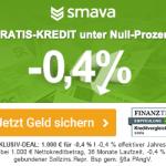 Smava verlängert den Negativ-Zins-Kredit bis Ende August!