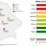 Wie die Mieten in bayrischen Städten gestiegen sind